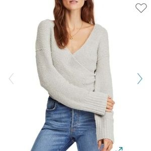 Free People Faux Wrap Sweater NWT
